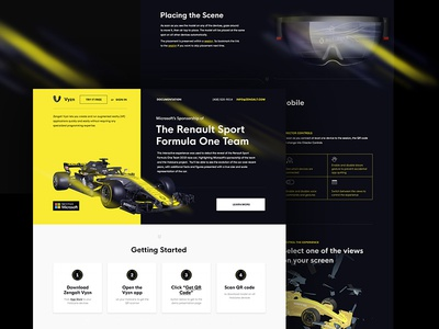 Landing page for VR promo