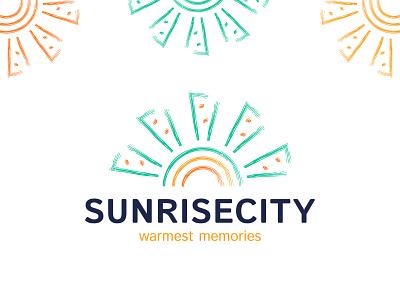 Sunrisecity - Real Estate Logo logotypes real estate branding design brand identity brand design estate real house home sunrise sun agency design simple brand idenity branding brush logotype logo