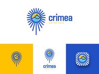 Crimea - Travel Logo tour brand identity brand design map location relax trip pin mountain sea sun travel crimea circle branding brand simple line logotype logo