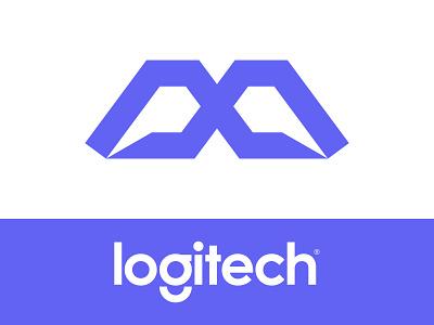 logitech MX v.1 redesign concept agency master sport logitech logi mx letter mx letter blue branding brand simple line logotype logo