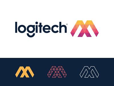 logitech MX v.2 triangle logo design mx letter m lettermark letter x concept logitech logi tech agency letter design branding brand simple line logotype logo