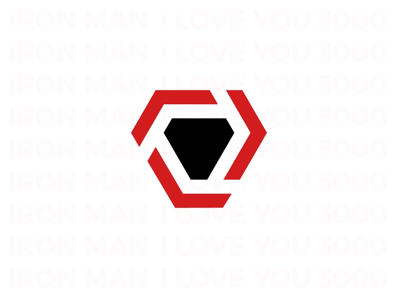 Iron Man Logo - Reactor print illustration simple brand ironman 3000 love concept triangle line reactor marvel man iron logotype logo