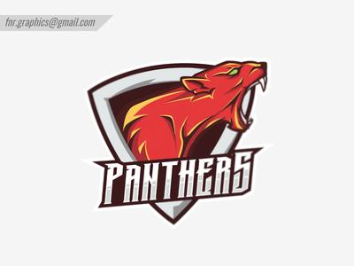 Panthers Esports Logo (Red Version)