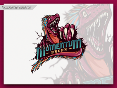 Momentum Break Esport Logo (Dark Red Version)