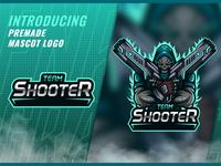 Skull Team Shooter Esport Mascot Logo