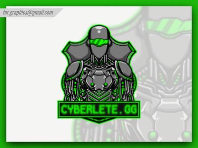Cyberlete Robot Cyber Mascot and Esport Logo