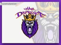 Lion Crown Mascot Logo
