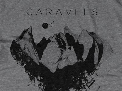Caravels Shirt band shirt landscape caravels texture