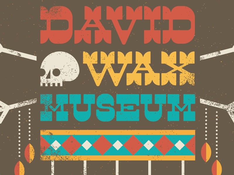 David Wax Museum band shirt david wax museum skull geometry
