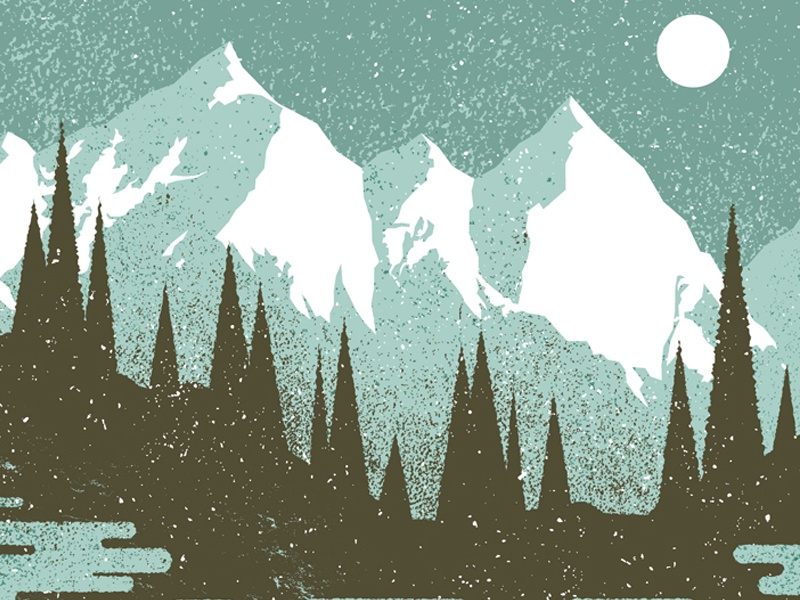 Mountains & Snow by Charlie Wagers - Dribbble
