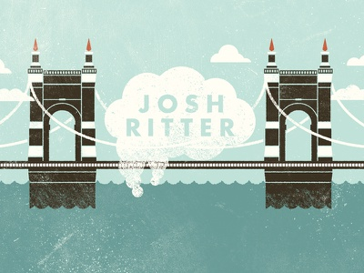 John A. Roebling Suspension Bridge josh ritter gig poster bridge