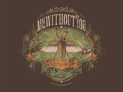 King Beetle on a Coconut Estate plants botany psychedelic fire insect band shirt mewithoutyou