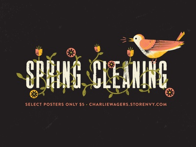 Spring Cleaning Sale vines flowers robin spring online store sale