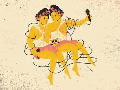 Gemini (Birthday Song) texture human greek tangle microphone astrology