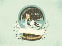 A Girl in a Snowglobe