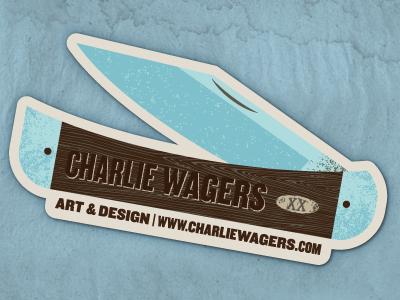 Stickers self-promo sticker knife