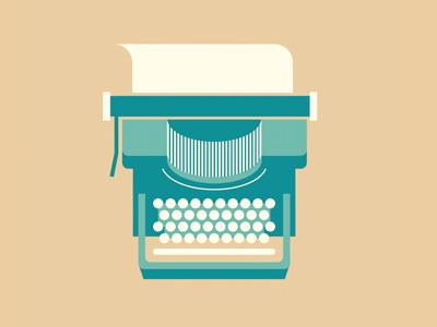 Typewriter band shirt typewriter icon illustration