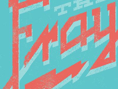 Pink Lightning the fray shirt hand lettering lightning eighties bright t-shirt