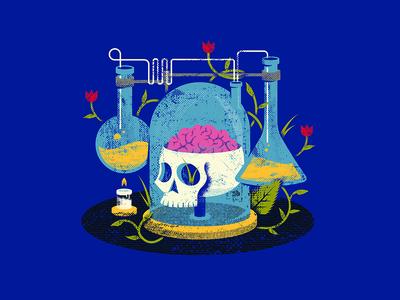 Cruel Remedy vines chemistry science skull