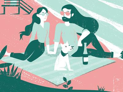 Miami Beach sunglasses lifeguard picnic dog wedding travel beach
