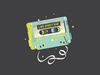 Cassette texture vector retro tape