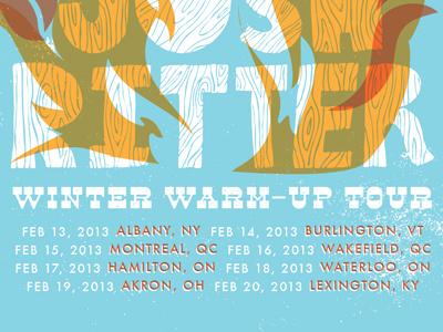 Winter Warm Up poster josh ritter fire bonfire