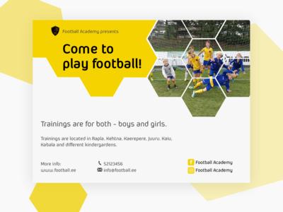 Football trainings ad flyer