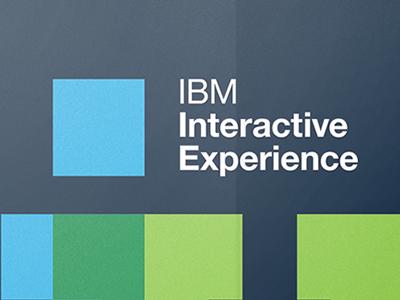 IBM Interactive Experience Branding poster org design branding