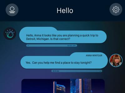 Cognitive Mobility Assistant conversational models ux chat bot conversational ui