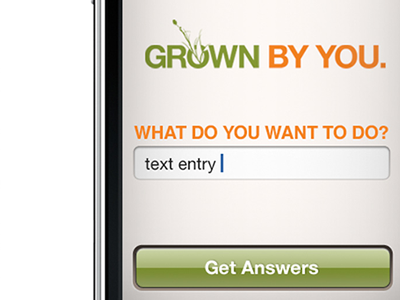 Grown By You mobile ui
