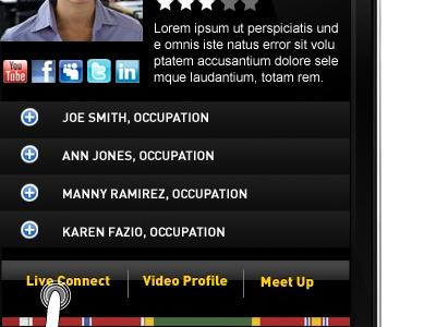 Army Veterans Network Mobile App mobile app ui ios design