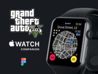 GTA 5 - Apple Watch Companion App apple ui watch ui ui design user interface watch os gtav rockstar games apple watch design freebies figma freebie companion app apple watch gta 5