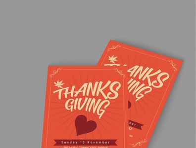 Thanks Giving Invitation Card