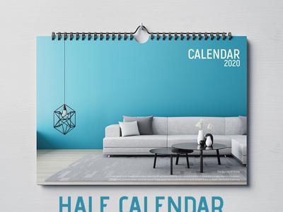 Half Calendar 2020 Template