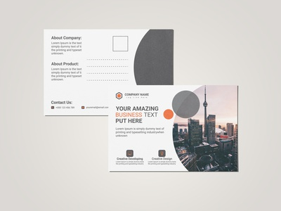 Elegant Post Card Template Design