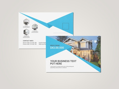 Real Estate Post Card Design Template