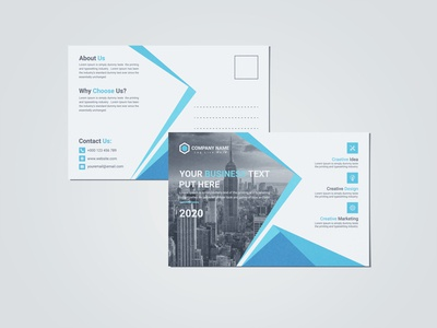 Creative Corporate Business Post Card Design Template
