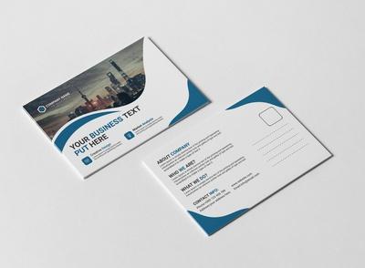 Corporate Business Post Card Design Template
