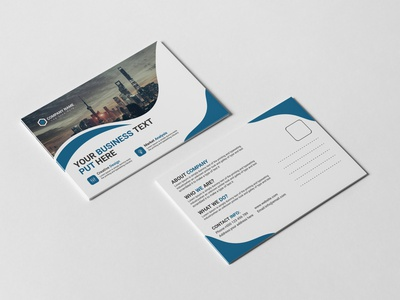 Corporate Business Post Card Design Template brochure a6 6x4 postcard 3d stationery	 10x15 postcard showcase print ready print postcard postal post card mockup mailing mail letter invitation greeting envelope display card