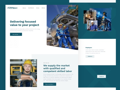 Flexforce Industrial marvelapp marvel web ux design ux ui ui design technology sketch sketchapp page design landing page site design