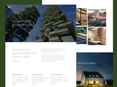 Go Green  Engenharia engenharia marvelapp marvel ux design ux ui design ui technology sketchapp sketch page design landing page