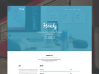 Handy - One page template - WIP