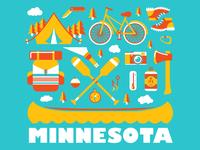 Minnesota Summer Illustrations