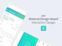 Material Design Award for Eventbrite Organizer