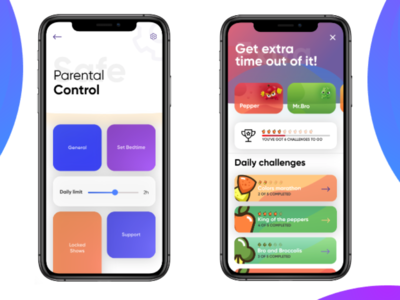 Kids food choice - iOS concept