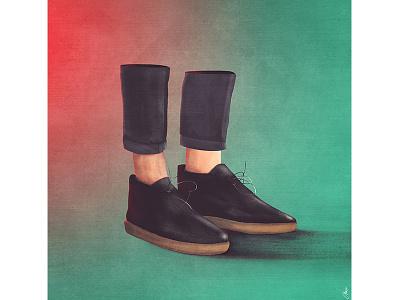 Goodie Two Shoes cut shoes design graphic artwork illustration