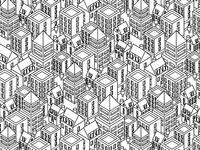 Isometric city pattern