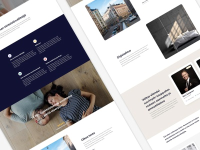 New webpage for Neliöt Liikkuu webdesign