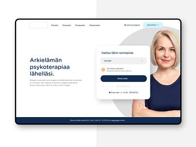Hero booking hero web design webdesign website medical therapy