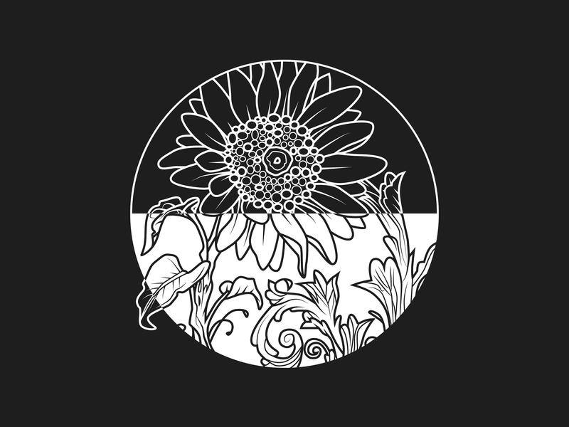 Sunrise/Sunset designchallenge design adobe adobe illustration sun sunflower flower vector design black and white sunset sunrise figure-ground figure ground inverse blackandwhite sunflowers adobe illustrator flowers vector illustration